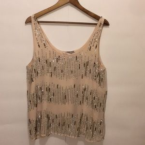 Sequin Tank - Lined (Forever 21) Size Large